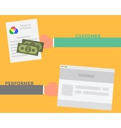 Payment Order Customer and Performer vector