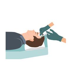Platelet rich plasma injection procedure vector