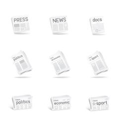 Press icon set vector