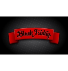 Realistic red ribbon for Black Friday Sale vector image vector image