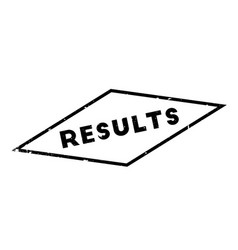 Results rubber stamp vector
