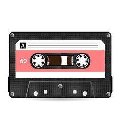 Retro audio cassette plastic audio vector