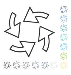 Rotation arrows icon vector