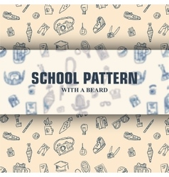School pattern with beard vector