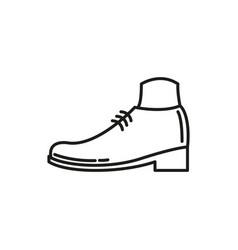 simple shoe thin line icon design vector image