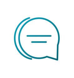 Speech bubble message communications gradient line vector