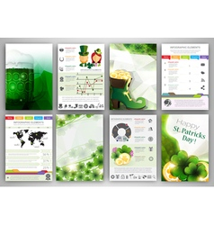 St Patricks Day Infographic backgrounds vector