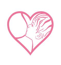 Symbol of mother breastfeeding baby woman feeding vector