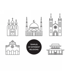 Temples of world different religions Infographics vector