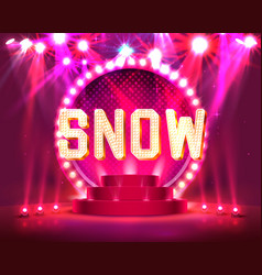 the stage show and show with bright vector image