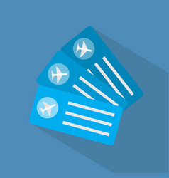 tickets icon set of great flat icons with style vector image