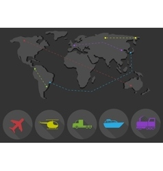 Transportation and delivery network vector image