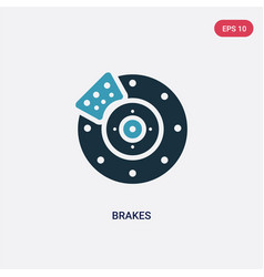 Two color brakes icon from transportation concept vector