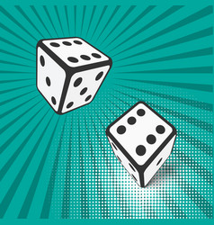 Two falling dice vector