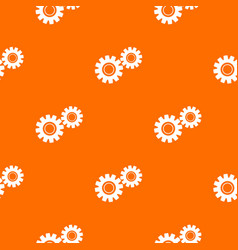two gears pattern seamless vector image