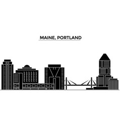Usa maine portland architecture city vector