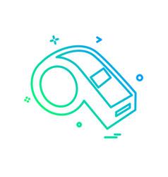 whistle icon design vector image