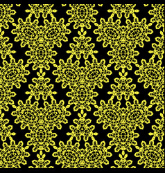 yellow black ornamental seamless pattern endless vector image