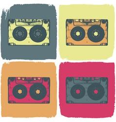 audio cassette pop art concept vector image vector image