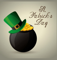 Happy saint patricks day card vector