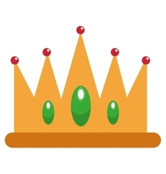 jeweled crown icon vector image