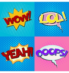 Pop art speech bubbles set vector