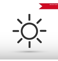 Sun black icon and jpg Flat style object vector image
