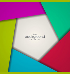 abstract background of colorful pentagon vector image