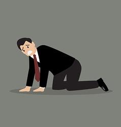Desperate businessman vector image