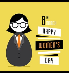 happy womens day design business women design vector image vector image