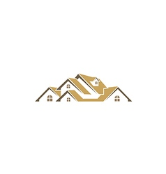 house roof realty business logo vector image vector image
