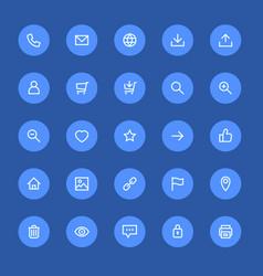 most used webdesign icons ui set vector image