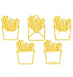 potato fast food vector image vector image