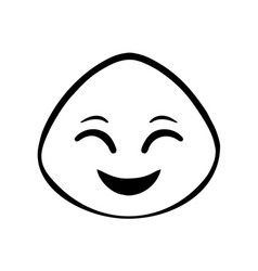 thin line happy face icon vector image vector image
