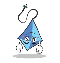 upside down blue kite character cartoon vector image vector image