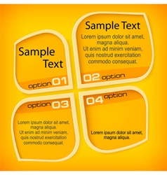 Banners with four options vector image vector image