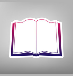 book sign purple gradient icon on white vector image vector image