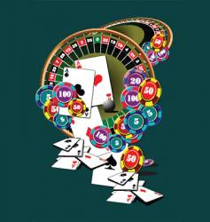 casino elements vector image vector image
