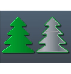 Christmas tree badge vector