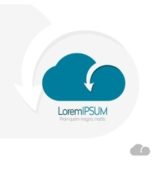 Cloud with arrow template design Data transfer vector image vector image
