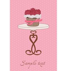 cupcake wedding invitation vector image