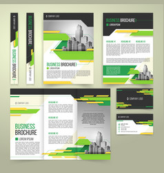 flyer cover design business brochure and vector image vector image
