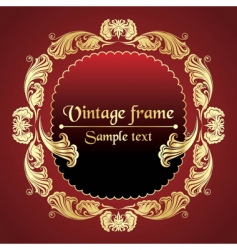 gold pattern frame vector image vector image