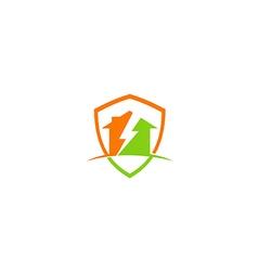 house thunder storm construction logo vector image vector image