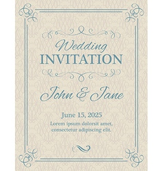 Invitation with calligraphy design elements in vector image