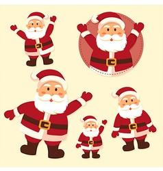 Santa Claus Character Set vector image