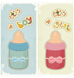 Set of birthday card for boy and girl vector