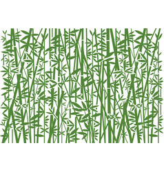 bamboo decorative green background vector image