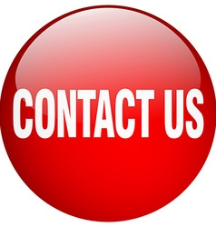 Contact us red round gel isolated push button vector