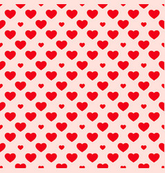 Hearts seamless pattern valentines day background vector